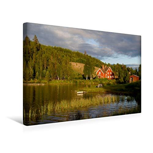 Calvendo Premium Textil-Leinwand 45 cm x 30 cm quer, EIN Motiv aus dem Kalender Schweden + Norwegen | Wandbild, Bild auf Keilrahmen, Fertigbild auf echter Leinwand, Leinwanddruck Natur Natur