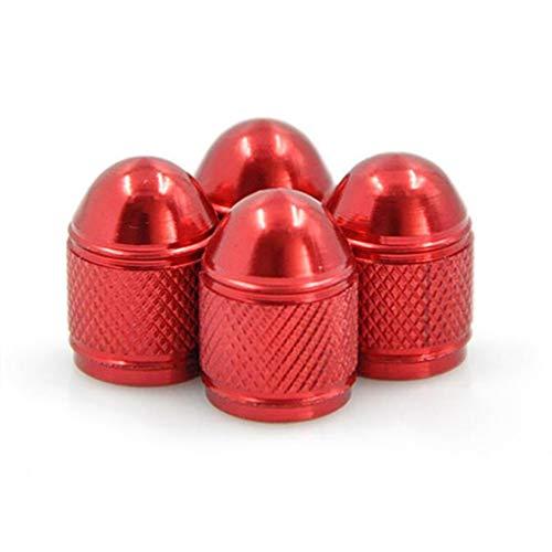 Wakauto Ventildeckel für Autoreifen Ventildeckel für Autoreifen aus Aluminium (rot)