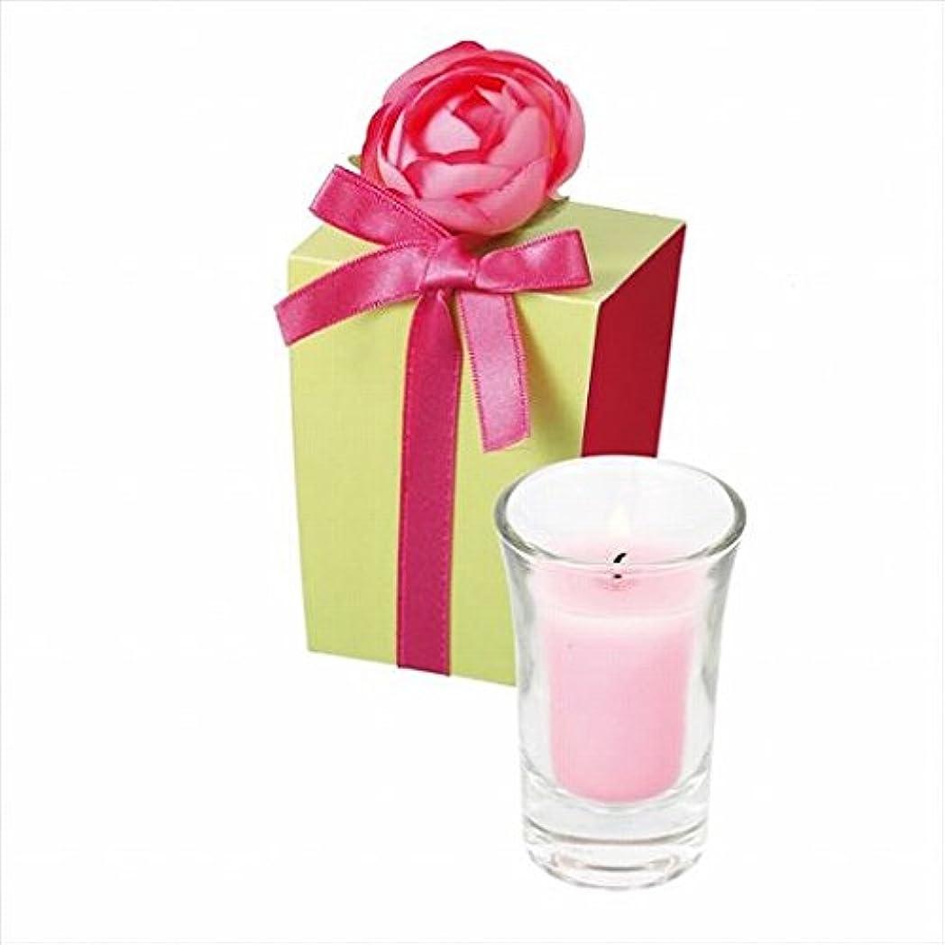 励起海軍極めてカメヤマキャンドル(kameyama candle) ラナンキュラスグラスキャンドル 「 ピンク 」