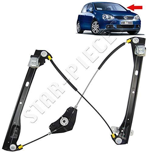 STARKIT PERFORMANCE - Mecanismo elevalunas eléctrico Delantero Izquierdo Conductor para Volkswagen Golf 5 Plus y Jetta 3