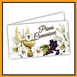 Bigliettini Bomboniera Prima Comunione - bigliettini per fazzoletti per confetti e sacchetti confetti 60 pezzi pretagliati