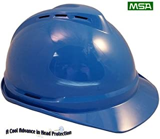 MSA CAP STYLE Advance Lightweight Vented Hard Hats with Staz On Suspensions (Blue)