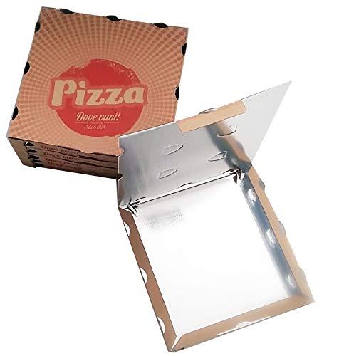 CUBEX PROFESSIONAL SCATOLA PIZZA IN CARTONE CON INTERNO IN PET 33x33x3,5 cm 50 pezzi
