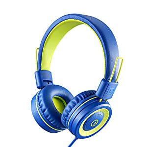 Kids Headphones with Microphone noot products K12 Stereo 5ft Long Cord with 85dB/94dB Volume Limit Wired On-Ear Headset…