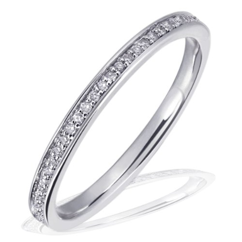 Goldmaid Damen-Ring Memoire 585 Weißgold ab 59 Brillanten 0,23 ct. Diamantring
