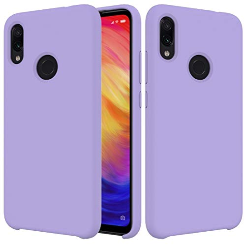 Fundas Xiaomi Funda Protectora de Silicona sólida a Prueba de Gotas de Color sólido for Xiaomi Redmi Note 7 Fundas Xiaomi (Color : Púrpura)