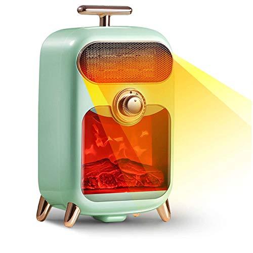 Retro Portátil Estufa De Terraza, Mini Calentador Eléctrico 3 Niveles De Calentamiento Voltear Para Cerrar Protección Contra Sobrecalentamiento Calefactor Infrarrojo Para Oficina Habitación -v