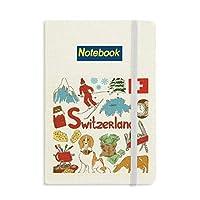 スイスの景色の国旗 ノートブッククラシックジャーナル日記A 5
