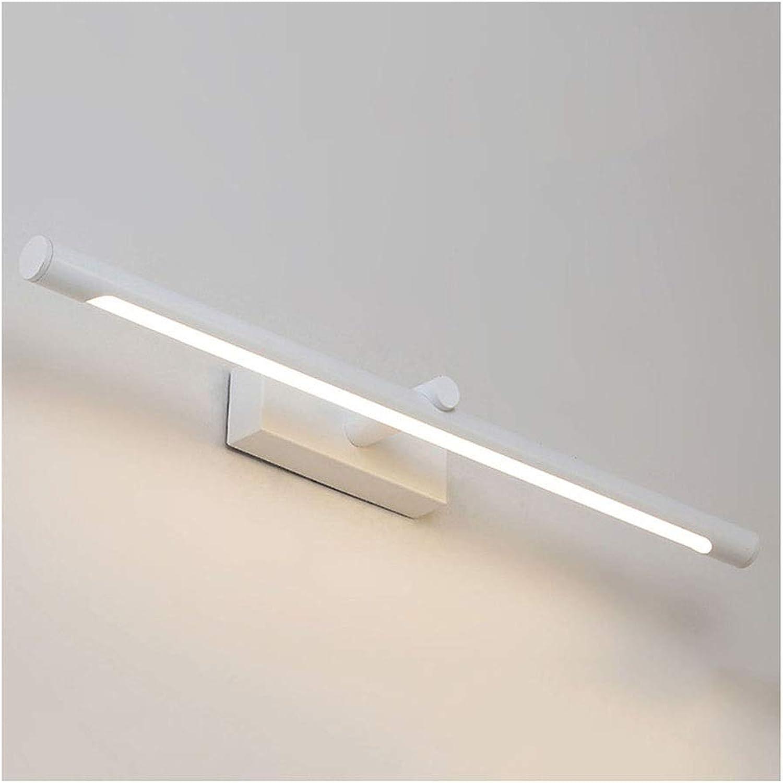 William 337 Spiegel Frontleuchte LED Bad Anti-fog Wandleuchte Schminktisch Spiegelleuchte Einfache Europische Wei Spiegel Kabinett Licht [Energieklasse A +] (Farbe   Warmes licht-56cm 10w)