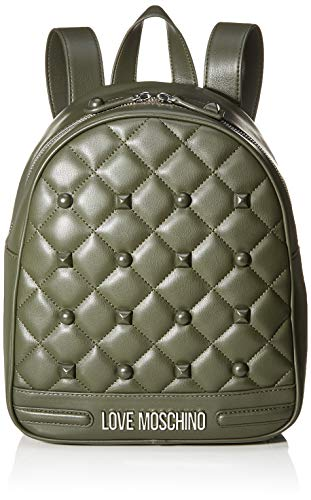 Love Moschino Unisex-Erwachsene Jc4063pp18lh0850 Rucksackhandtaschen, Grün (Verde), 30x11x25 centimeters
