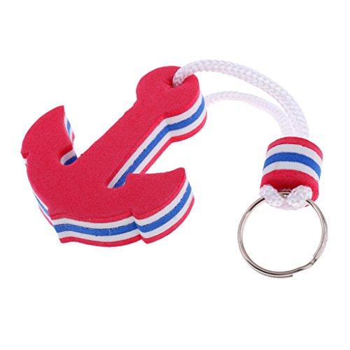 MagiDeal Schlüsselanhänger Schwimmender Schlüsselring Kajak Kanu Segeln Sport Keychain, Form - Rot