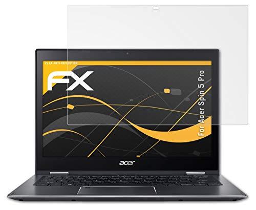 atFolix Panzerfolie kompatibel mit Acer Spin 5 Pro Schutzfolie, entspiegelnde & stoßdämpfende FX Folie (2X)