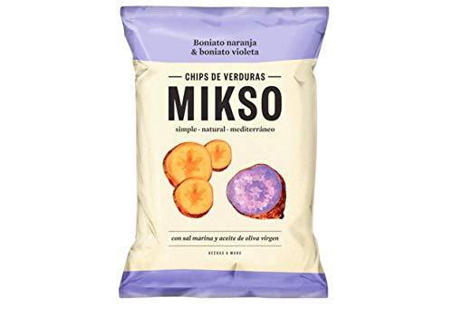 Chips de boniato naranja y boniato violeta con sal marina y aceite de oliva virgen bolsa 85 g