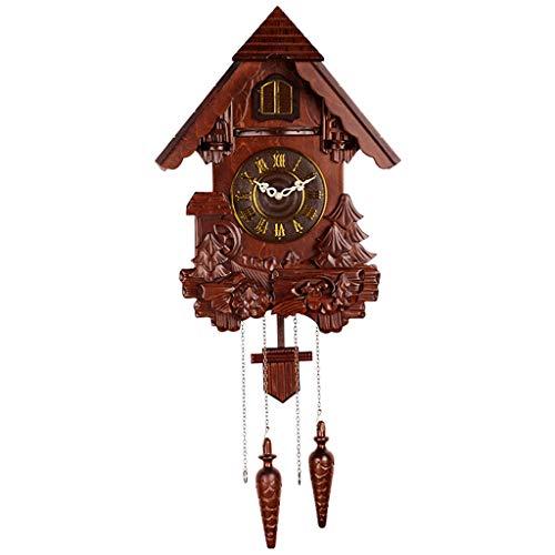 CHUANG Reloj de Cuco, Reloj de Pared de Cuco, Reloj de péndulo Creativo para Sala de Estar, Reloj de Cuco, Reloj de Pared Infantil Mute Bird