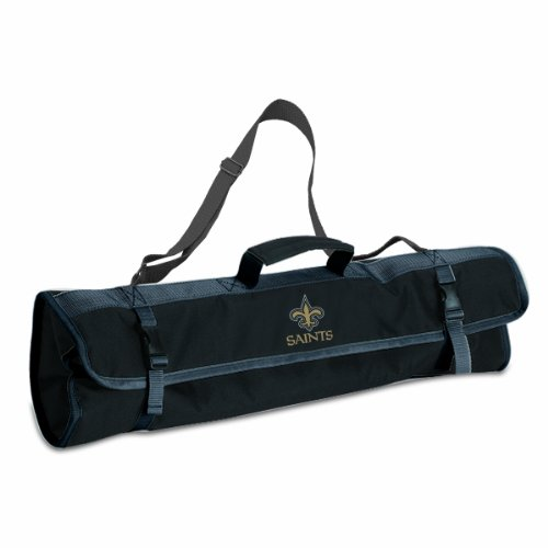 NFL New Orleans Saints 3-Piece BBQ Tool Tote