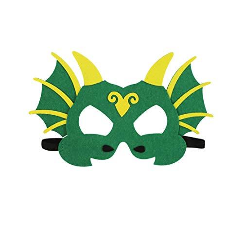 A-myt Comedia nica Mscara de Dinosaurio para nios Tyrannosaurus Rex Stegosaurus Pterodactyl Triceratops Unicornio Mask Mask Props Halloween Juego Agradable (Color : A)