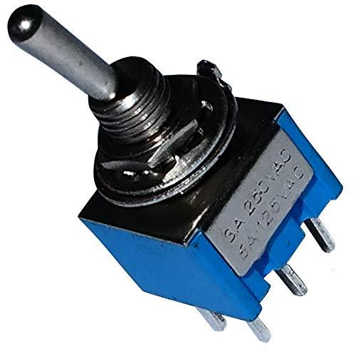 AERZETIX: Interruptor conmutador de palanca DPDT ON-ON 3A/250V, 2 posiciones C10777