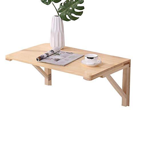 ZND Eenvoudig Idee Wandmontage Tafel Eenvoudig Idee Laptop Stand Bureau Opvouwbare Huishoudelijke Eettafel Plank Gemakkelijk op te slaan, Massief Hout, 8 Maten, Houtkleur,