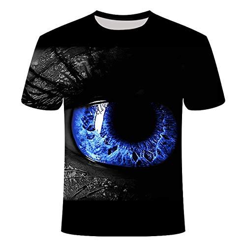 T-shirt pour homme imprimé 3D, manches courtes, style géométrique...