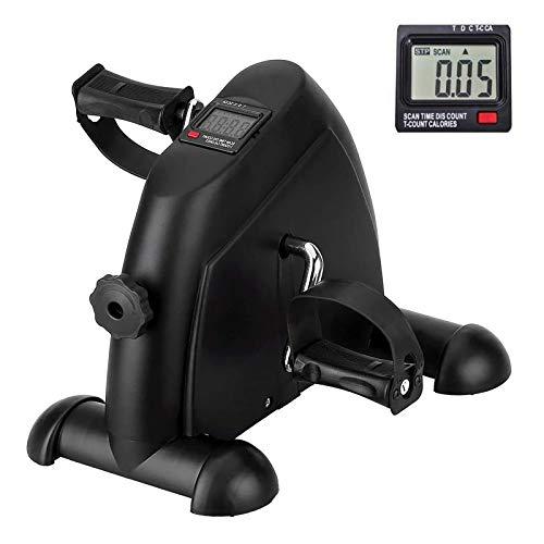 AGM Mini bicicleta de apartamento con monitor digital y...