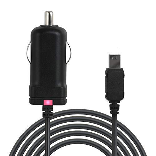 Wicked Chili TMC-KFZ-Ladegerät (TMC-Empfänger Mini-USB Auto-Ladegerät) kompatibel mit NAVIGON 92, 72, 42, 40, 20, 6310, 7310, 7210, 6350, 4310, 4320, 4350 (Premium, Plus, Live, Easy, Max) (1m) schwarz