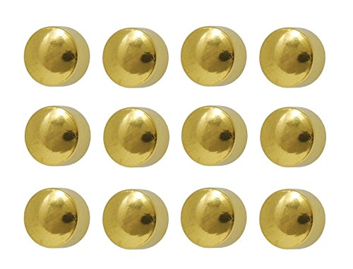 Caflon Ear Piercing Ball Earrings Studs 4mm Gold Plated Surgical Steel 12 Pair