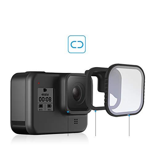 TELESIN Filtro Magnetico Set 4 Pezzi Protettore Obiettivo ND8 16 32 CPL Filtro per Gopro Hero 8 ND8 ND16 ND32 CPL Fotocamera Nera Accessori per Lenti