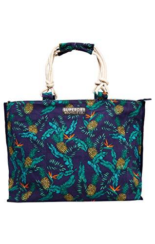 Superdry Amaya Rope Tote, Bolso de mano. para Mujer, Multicolore (Pineapple Print), 56x36x16 cm (W x H x L)