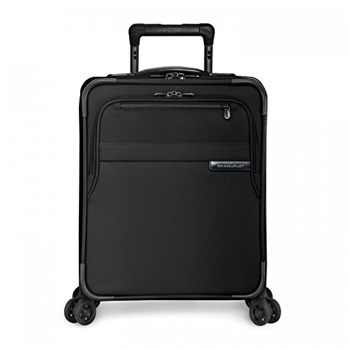 Briggs & Riley Baseline-Softside CX Expandable Carry-On Spinner Luggage, Black, 19-Inch