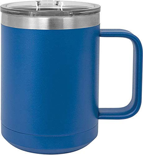 BPDD Double Wall Coffee Mug with Lid and Handle,Double-layer stainless steel car cup with handle car heat preservation cold water cup