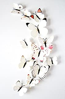 3D butterflies wall decoration - White