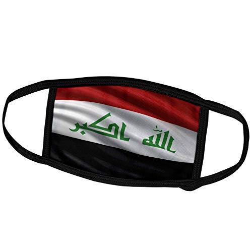 3dRose fm_178063_3 Face Mask Small Gesichtsmaske, Polyester, Flagge Irak winkt im Wind