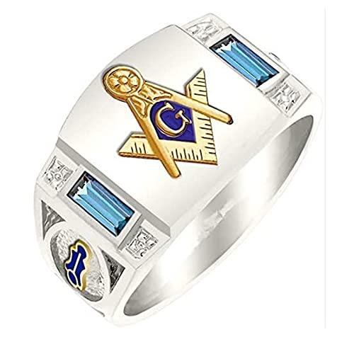 Men's Stainless Steel Vintage Freemason Masonic Rings Birthday Gifts for Boyfriend Graduation Gifts (11)