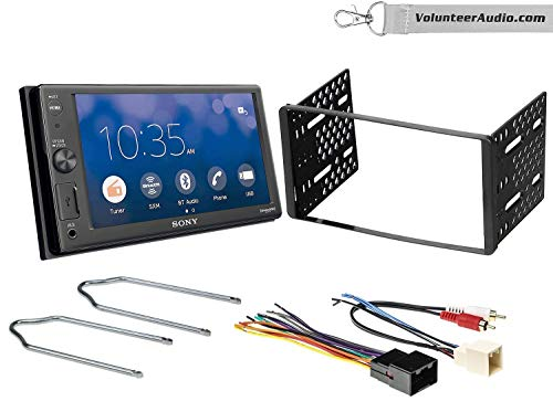 Sony XAV-AX1000 Double Din Radio Install Kit With Apple CarPlay, Sirius XM Ready, NO CD Player Fits 1999-2004 F-150, 2003-2008 E-150, 1998-2012 Ranger
