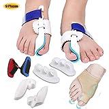 CHHD Protector de Dedos de los pies, Kit Corrector de juanetes y Kit de Alivio de juanetes para Tratar el Dolor en Hallux Valgus, articulación del Dedo Gordo del pie, Dedo del pie en Martillo, espac