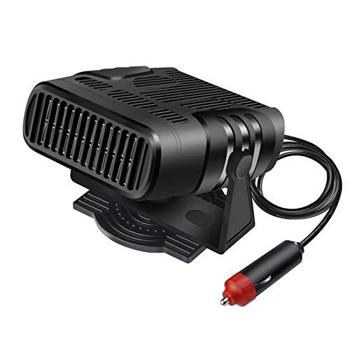 iBaste Calefactor portátil para coche, 12 V/24 V, potente, 360 ° de rotación