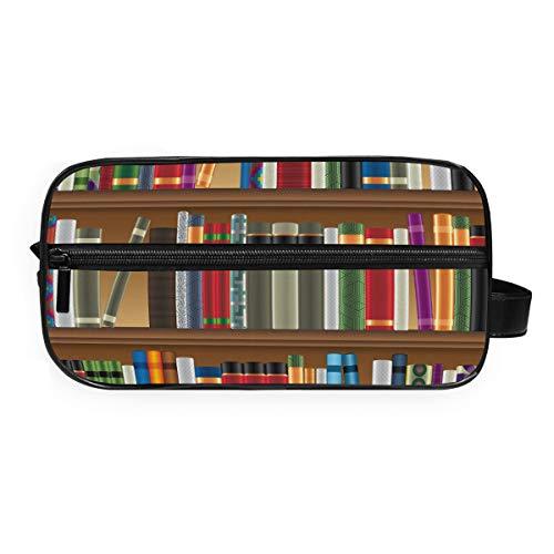 DEZIRO Bibliotheek Planken Met Oude Boeken Foto Draagbare Reizen Toilettas Waterdichte Make-up Organizer Cosmetische Tas Buidelzak Voor Vrouwen Meisje