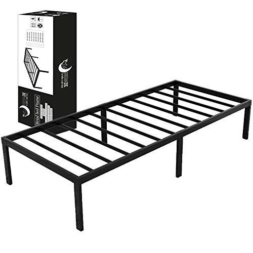 Dreamzie Metallbett 90x200 x 36 cm - Bettgestell aus Metall 90x200 cm Bett für Matratze Einzel - Robust, Leichte Montage, Umfangreicher Stauraum - Schwarzer Lattenrost