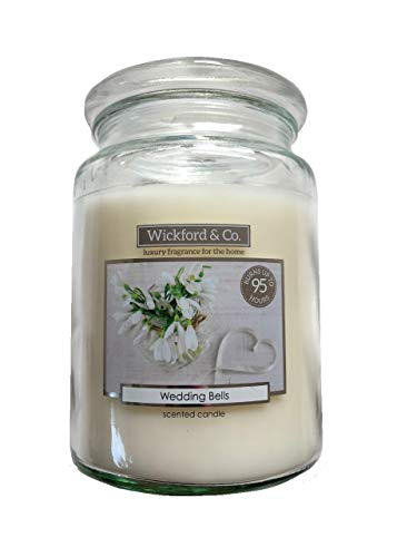 Wickford & Co. Large Scented Candle In Glass Jar 15cm 450g - Wedding Bells