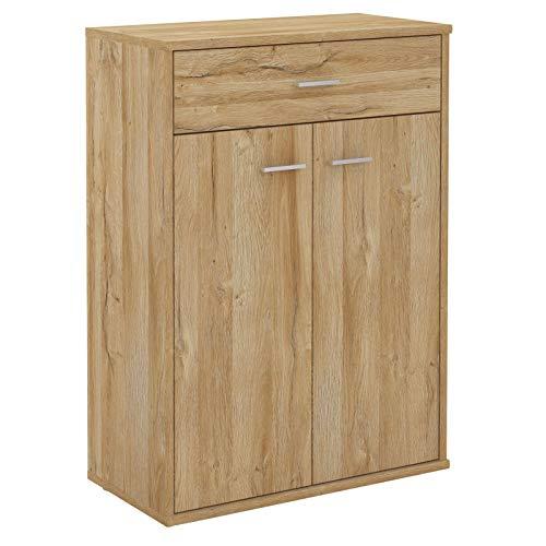CARO-Möbel Kommode Tommy Sideboard Schrank in Wildeiche mit Schublade und 2 Türen