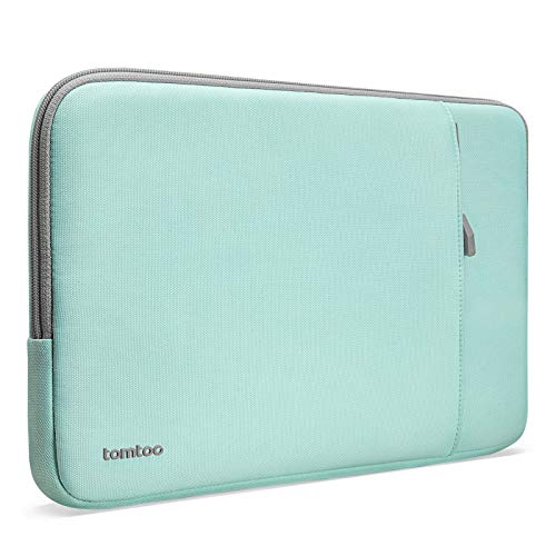 tomtoc Recycled Laptop Sleeve for 13-inch MacBook Air M1/A2337 A2179 2018-2021, MacBook Pro M1/A2338 A2251 A2289 2016-2021, 12.9 iPad Pro 3rd/4th Gen, 360 Protective Accessory Case Bag, Mint Blue
