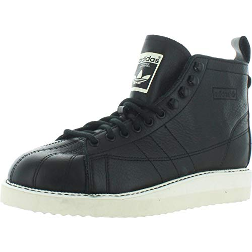 adidas Originals Women's Black Leather Superstar Boots Shoes