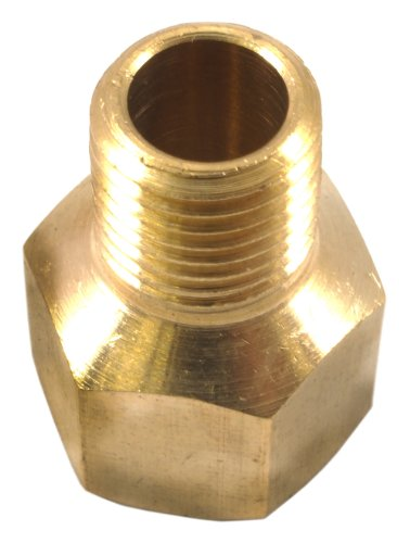 Forney 75447 Brass Fitting, Reducer Adapter, 3/8-Inch Female NPT to 1/4-Inch Male NPT