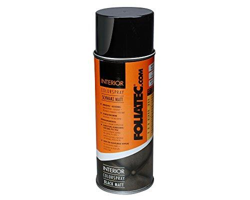 Foliatec 2002 Interior Color Spray ist ein Farbspray für Kunststoffe, Kunstleder, Echtleder, PVC-Teile und glatte, verspannte Gewebe, 400 ml, Dunkelgrau Matt