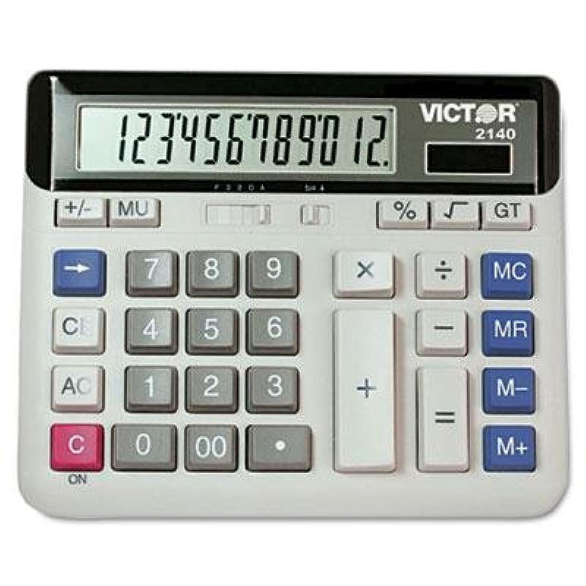 アルコール大人うなずくVictor?–?2パック?–?2140デスクトップビジネス電卓12桁LCD