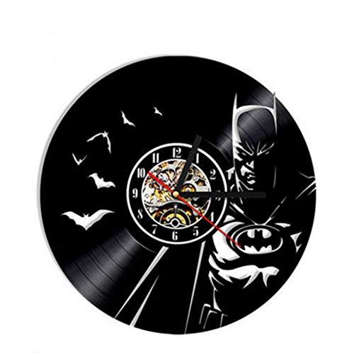 yyygg American Hero Schallplatte Wanduhr Modernes Design Joker Cartoon 3D Aufkleber Vintage Vinyl...