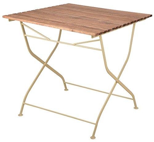 Esschert Design Table Pliable en Bois et métal