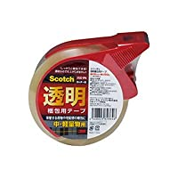 透明梱包用テープ 48mm×50m カッター付 品番:313D-1PN 注文番号:60883728 メーカー:スリーエム ジャパン