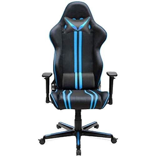 WJMLS PC Gaming Chair, Silla De Atletismo For El Juego, Silla De La Computadora, E-Sports Silla, Silla De Oficina Ergonómica (Color : Blue)