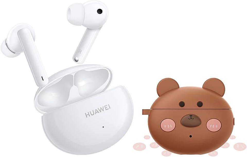 HUAWEI FreeBuds 4i True Wireless Kopfhörer mit Active Noise Canceling (10 mm Lautsprecher) ink. Case 'Lucky Bear'- Exklusiv auf Amazon: 30 Monate Herstellergarantie -, Weiß